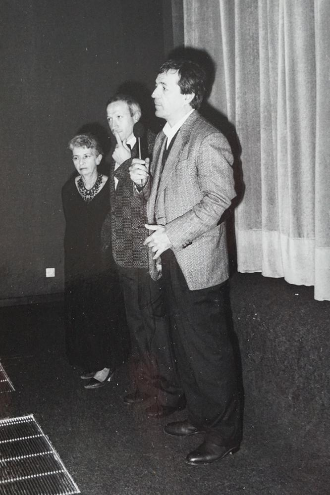 Janine Bazin, Richard Gorrieri et Costa-Gavras