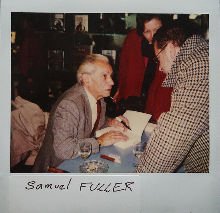 Samuel Fuller en dédicace