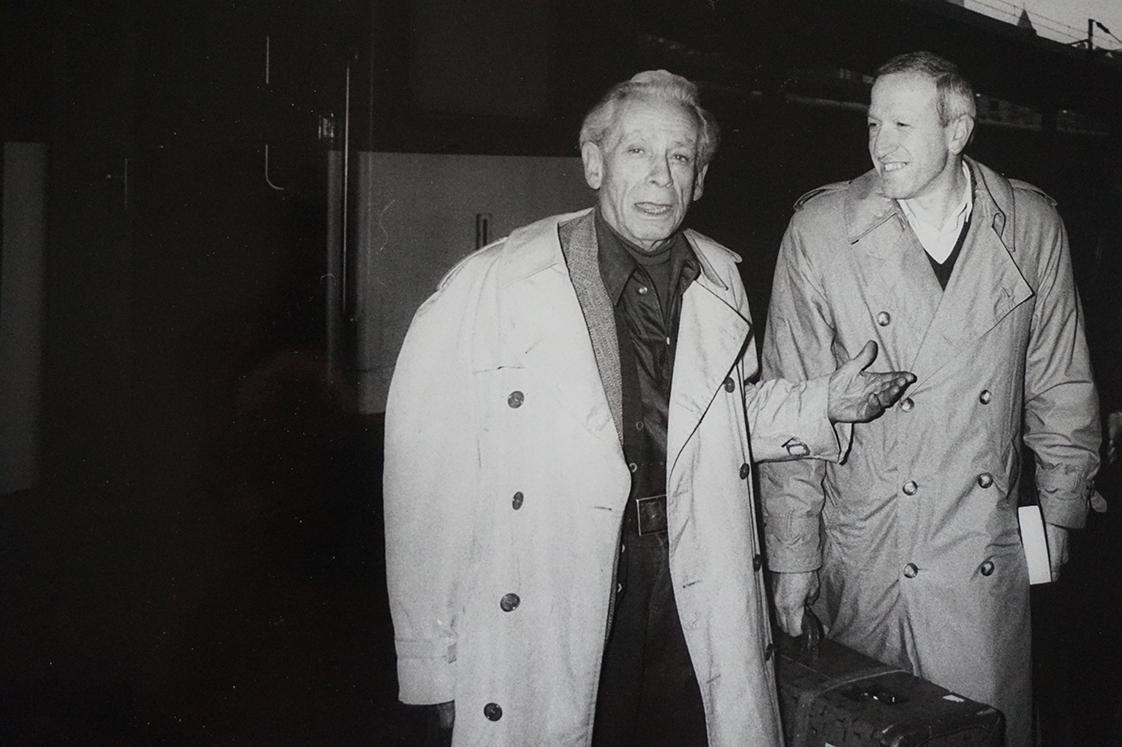 Samuel Fuller et Richard Gorrieri, secrétaire général du festival