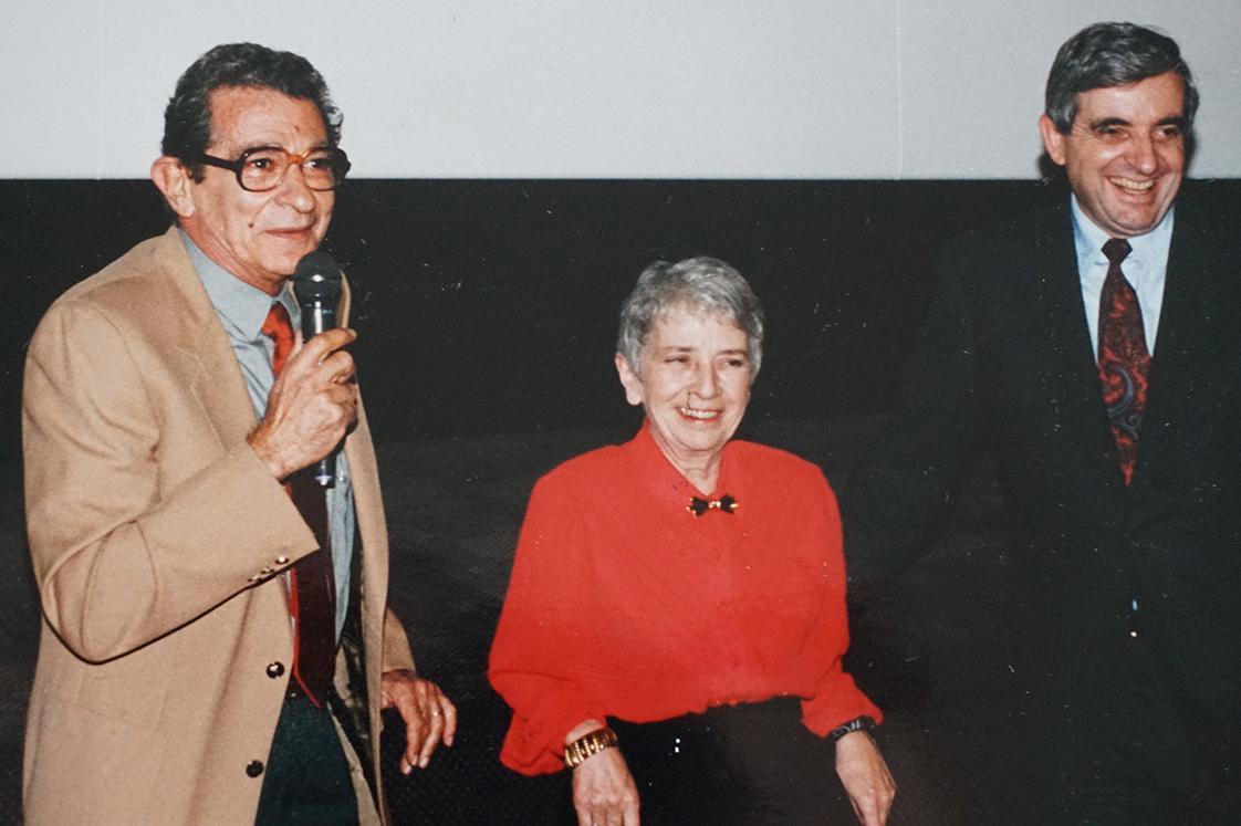 Youssef Chahine, Janine Bazin et Jean-Pierre Chevènement