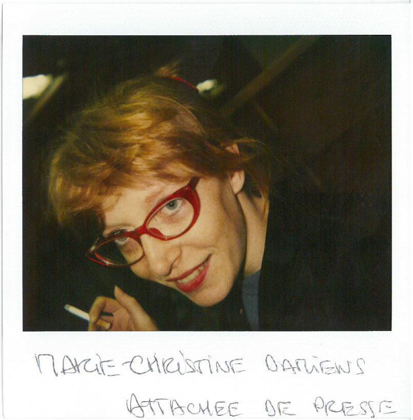 Marie-Christine Damiens (Attachée de presse du festival)