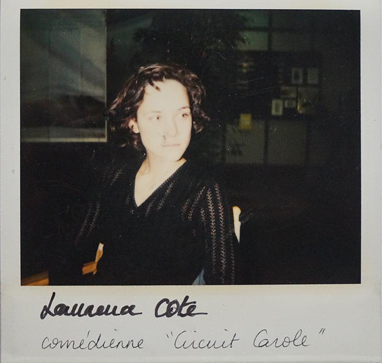 "Laurence Cote, actress of ""Circuit Carole"" by Emmanuelle Cuau"