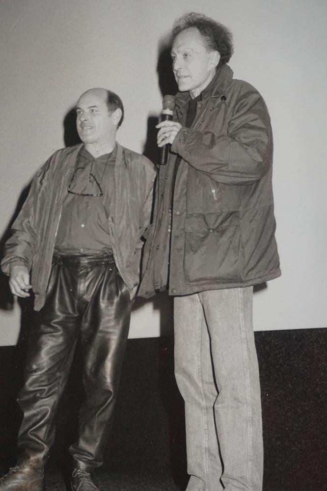 Jean-François Stevenin and Monte Hellman on stage