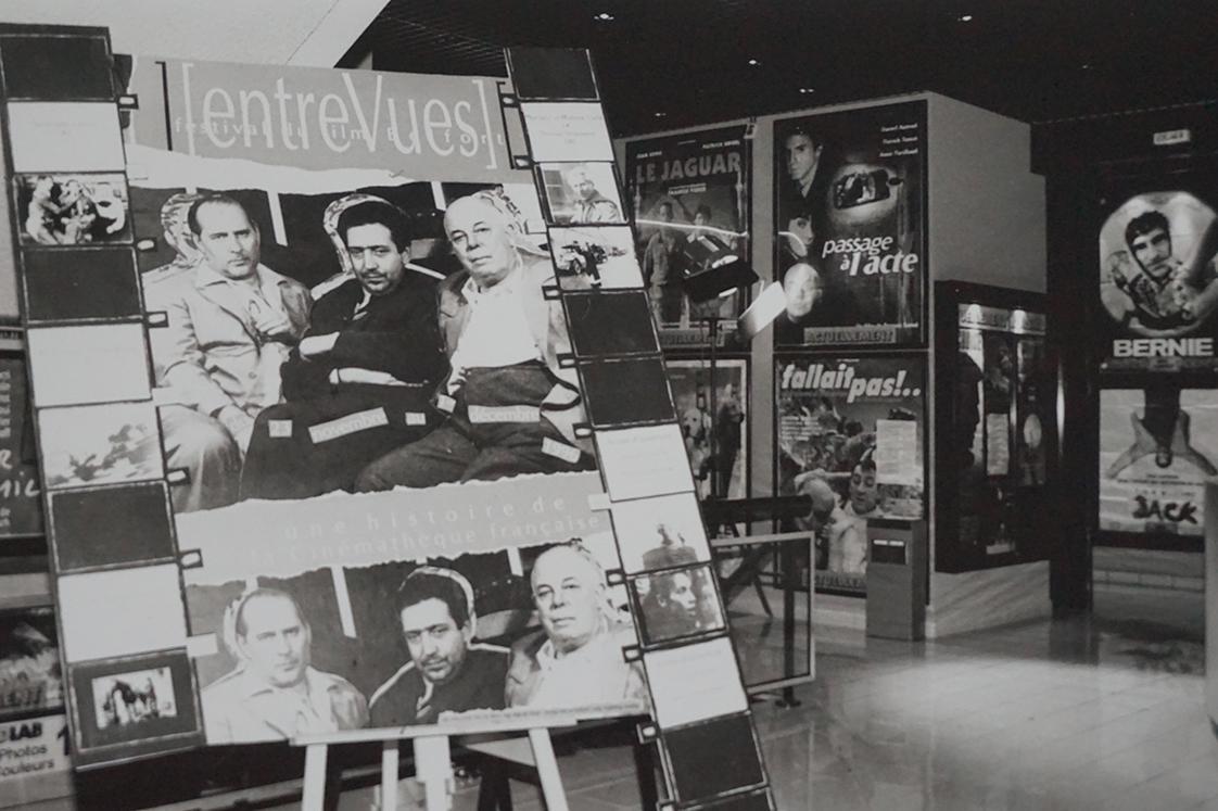 L'affiche d'Entrevues 1996 : Roberto Rosselini, Henri Langlois, Jean Renoir. (c) Man Ray Trust