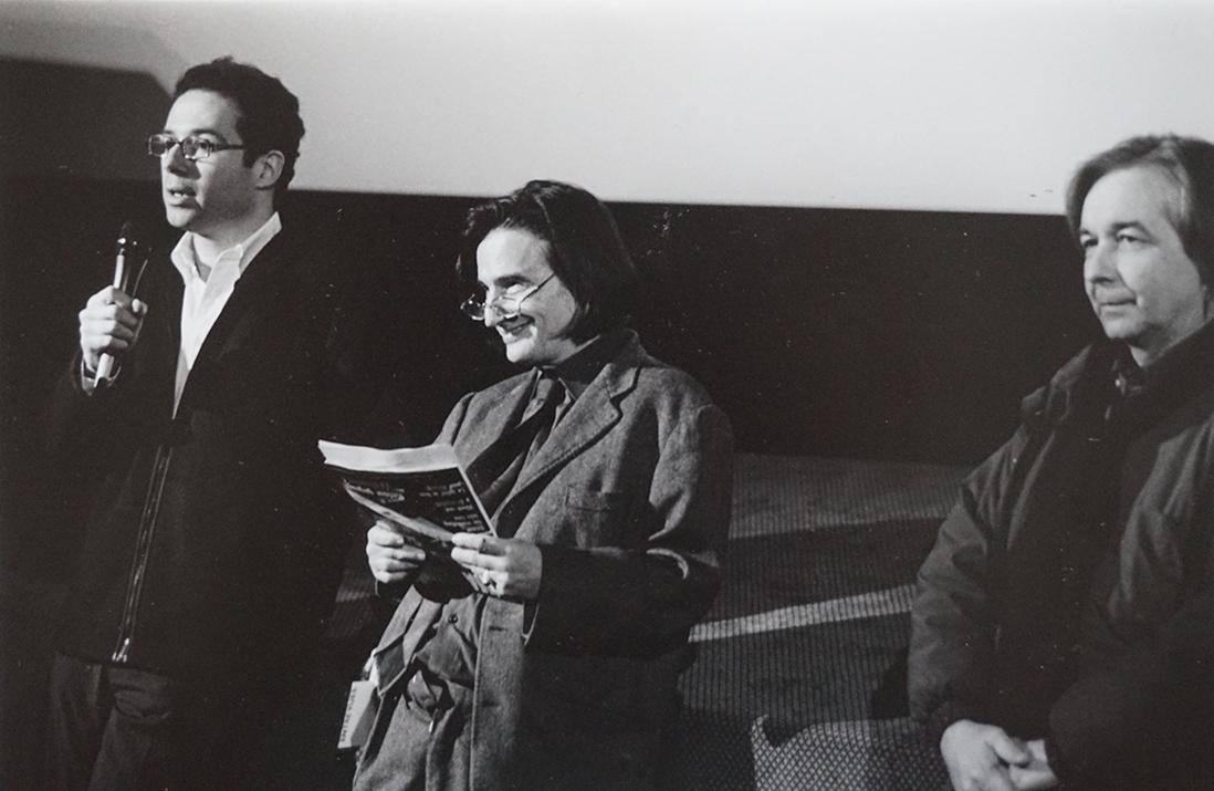 Bernard Benoliel and Jean-Pierre Léaud on stage