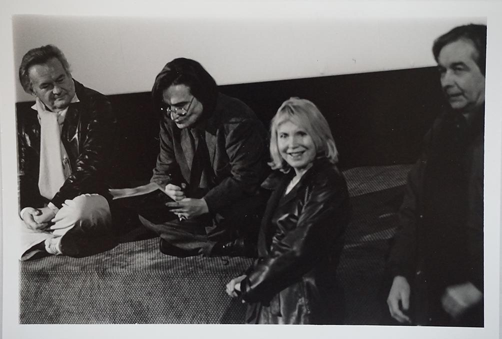 Jerzy Skolimowski, Jean-Pierre Léaud et Bulle Ogier sur scène