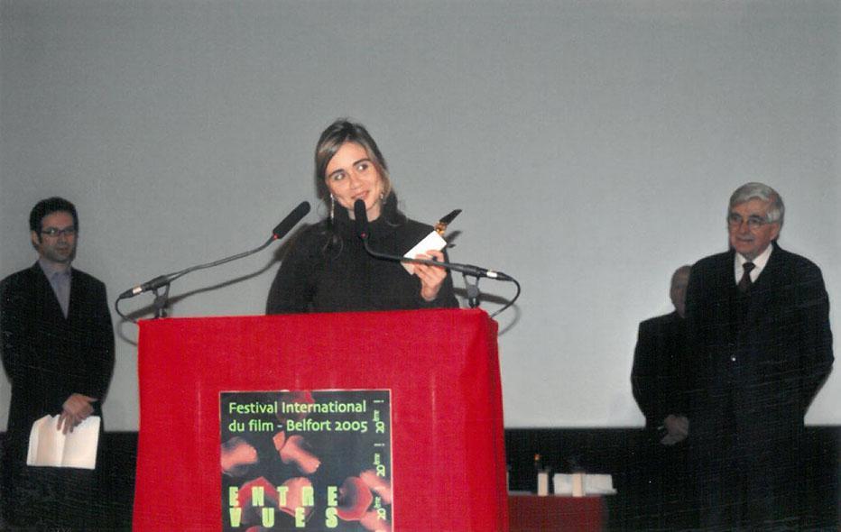 Speech of Katell Quillévéré after receiving the Audience Short film award