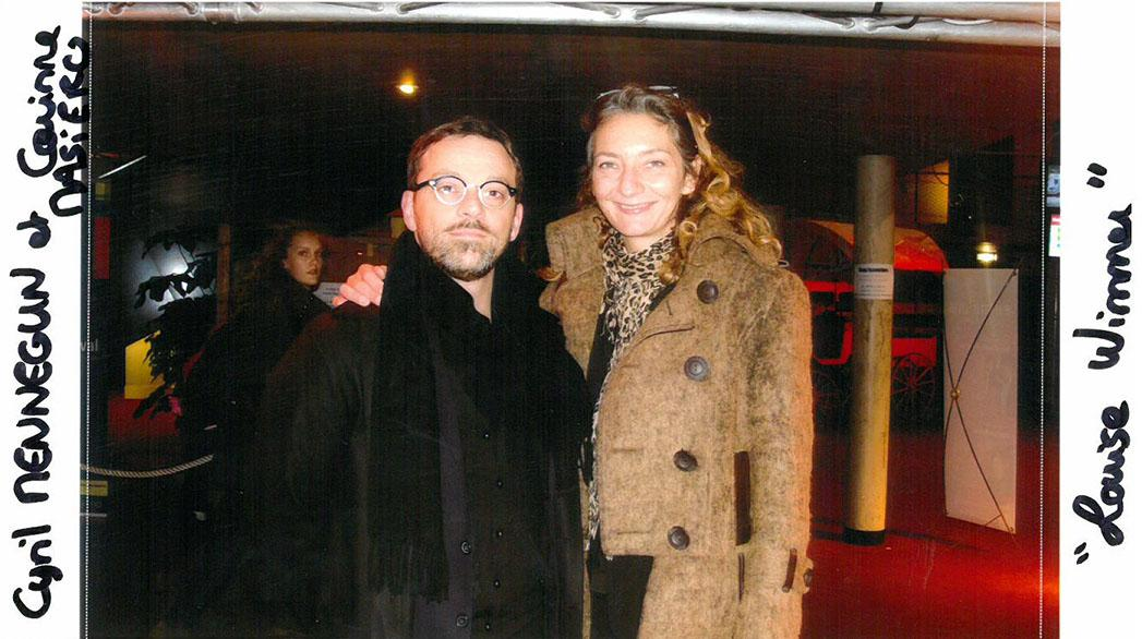 "Cyril Mennegun and his actress Corinne Masiero ""Louise Wimmer"" (Audience Feature film award)"