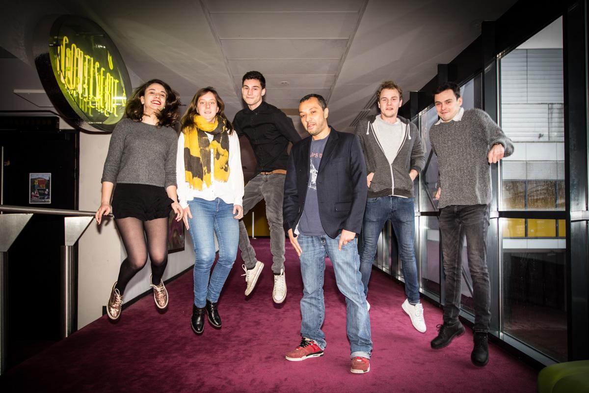 Hamé (La Rumeur), le parrain du Jury Eurocks One+One entouré des membres du jury jeune