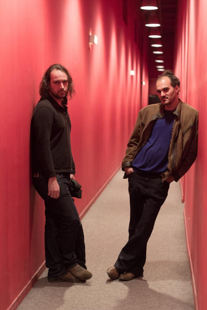 The filmmaker Alexandre Koberidze and his director of photography Ben Bernhard