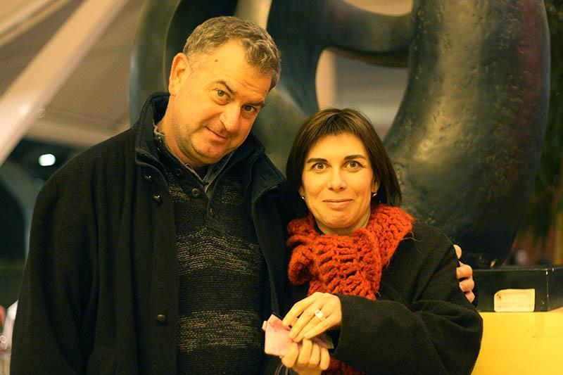 Avi Mograbi et Catherine Bizern